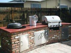 built in weber grill concrete countertop http://www.concreteexchange.com
