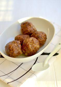 librije's gehaktballen Meat Love, I Love Food, Good Food, Yummy Food, Dutch Recipes, Meat Recipes, Dinner Recipes, Cooking Recipes, Meatball Recipes