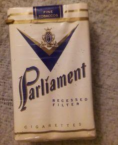 Vintage PARLIAMENT Recessed Filter Cigarette Pack Unopened   #Parliament