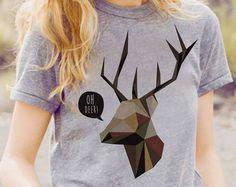 Galaxy Reindeer Shirt Deer Tshirt Galaxy Shirt Women Tshirt Womens Gift T shirt Christmas Gifts Women Tee Shirt