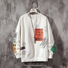 Fresh nd' Clean Sweatshirt Quit Your Job Swag Shirts, Mens Sweatshirts, Hoodies, E 38, Street Wear, Clothes, Male Streetwear, Hip Hop, Contrast Color