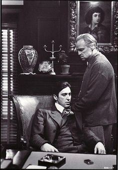 The Godfather (1972) - Al Pacino, Marlon Brando, Diane Keaton. The film is based on the novel of the same name by Mario Puzo. Considered one of the most iconic films ever made. Won three oscars and was highest grossing movies at that time. Still considered one of the best ever made.