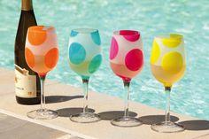 Polka Dots All Purpose Wine Glass