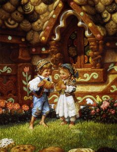 Hansel and Gretel, the fairy tale from the Brothers Grimm. Read online world famous fairy tales. Will Terry, Hansel Y Gretel, Classic Fairy Tales, Fable, Fairytale Art, Children's Book Illustration, Illustrators, Fantasy Art, Art Prints