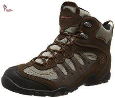 hi tec penrith mid waterproof chaussures de randonnee hautes homme marron chocolate