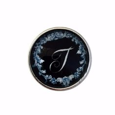 #5433 Black Filigree Alphabet Letters 18mm (A-Z Available)