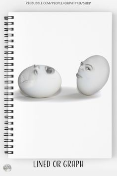 """* """"Egg heads - Cracked Egg and a Wink"""" Spiral Notebooks by #Gravityx9 