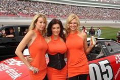 Girls nascar races at hot