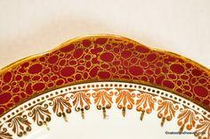 Duchess Winchester Red & Gold Pattern
