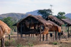 Aircon?  Aircool!  Air conditioning ethnic style.  Traditional elevated house of the aborigine Mangyan tribe in southern Philippines.