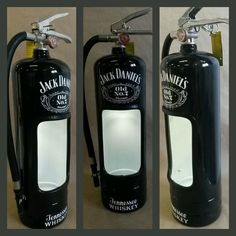 Jack daniels fire extinguisher alcohol display case. Man cave must have!