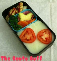 Healthy vegan bento meal, features gardein and mashed potatoes.