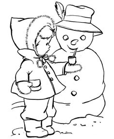 Winter Coloring, Coloring Pages Winter Cute Kid Putting A Pipe On Snowman: Coloring Pages Winter Cute Kid Putting A Pipe On SnowmanFull Size Image Fox Coloring Page, Snowman Coloring Pages, Coloring Pages Winter, Family Coloring Pages, Coloring Sheets For Kids, Online Coloring Pages, Alphabet Coloring Pages, Coloring Pages For Girls, Cool Coloring Pages