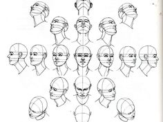 drawing heads different angles - Google Search