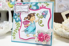 "Made by Cindy Hoesel for Whimsy stamps. Crissy Armstrong ""Celtic Fairy"""