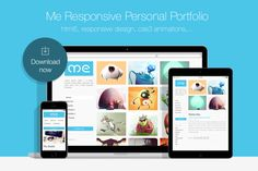 Me • Responsive Personal Portfolio by Gthemes on Creative Market
