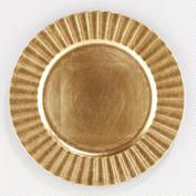 Fluted Gold Charger, Set of 4