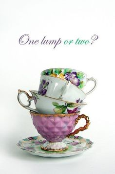 stacks of tea cups for centerpieces?