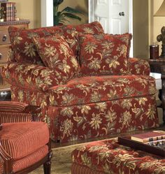 9276 Upholstered Chair With Loose Back Cushion, Rolled Arms, And Skirt By  Craftmaster   Riverview Galleries   Upholstered Chair Durham, Raleigh U0026  Chapel ...