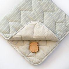 Organic Quilted Baby Blanket - Sashiko Shade