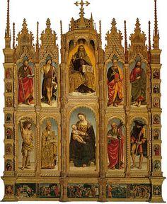 Signorelli - Il Polittico di Arcevia è un dipinto a tempera su tavola (393x315 cm) di Luca Signorelli, firmata e datata 1507 e conservato nella collegiata di San Medardo di Arcevia (AN).