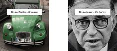 Njustudio spottet a car in Prague once that looked like Sartre. #ncc