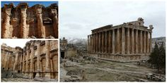 The ancient city of Baalbek, also called Heliopolis or City of the Sun, located in what is now modern-day Lebanon, north of Beirut, in the Beqaa Valley, re