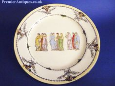 royal doulton | Royal Doulton 'Athens' series ware rack plate c1910