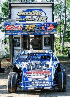 Ryan Gustin(19r) USMTS Valley Speedway 4-20-2012