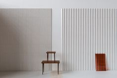 MODERN TILES BY RONAN & ERWAN BOUROULLEC FOR MUTINA:  Triangle is a three-dimensional tile that creates plays on light and darkness depending on how the light actually hits the surfaces. It comes in two versions: small and large.