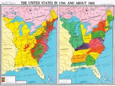 Map - United States in 1783 | American Revolution | Pinterest ...