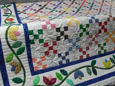 nine patch by Jessica's Quilting Studio, via Flickr