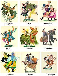 Tradicional polish dances: The National Dances of Poland are The Polonaise, Kujawiak, Mazur, Oberek, and Krakowiak. We have a video example and description of each of these Polish folk dances. Folklore, Poland Culture, Polish Clothing, Poland History, Polish Language, Visit Poland, Polish Folk Art, Folk Dance, Arte Popular