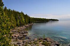 Where Georgian Bay meets Lake Huron,Tobermory, Ontario. Tobermory Ontario, Lake Huron, True North, Georgian, Strong, River, Photography, Free, Outdoor