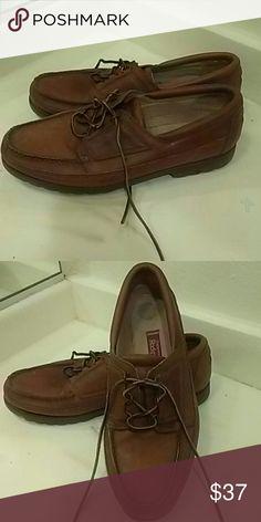 Rockport Men's boat shoes Size 11 1/2 Leather Upper made in Brazil Rockport Shoes