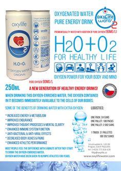 Oxylife oxygen water - u nique patented technology of oxygenation. Oxylife water - new generation of Pure energy drinks. Kyslikova voda - novy cisty energeticky napoj