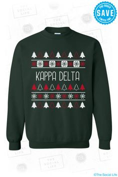 If Eta Upsilon does an ugly christmas sweater party, this needs to be our tshirt design! LOVE IT!