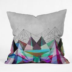Mareike Boehmer Colorflash 3Y Throw Pillow   DENY Designs Home Accessories