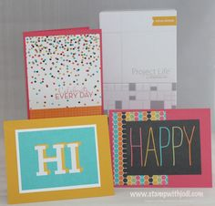 Quick & Creative cards using Project Life Card Collections.