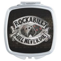 Rockabilly Compact Mirror
