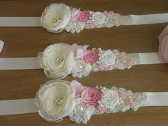 Ivory Pink Bridal Sash Wedding Belt Rhinestone by kathysvipfinds  $22.99 THIS ONE!!