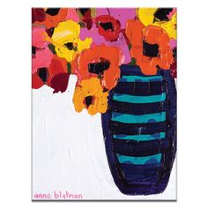 Peace Poppies by Anna Blatman Painting Print on Canvas