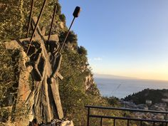 Morning Climb to Castelmola ~ Stations of the Cross overlooking the Ionian Sea and Taormina