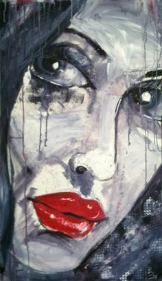 """This one was simply called """"Face, Eyes, Eyes"""". Abstract artwork of woman's face."""