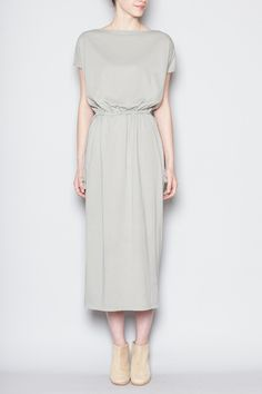 Totokaelo - Black Crane - Long Dress - Sage
