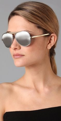 celine black mirrored aviator sunglasses