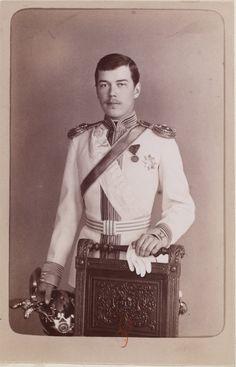 Czarevich Nicholas Alexandrovich, o futuro Nicholas II, Imperador da Russia, (filho de Alexandre III e Marie Fedorovna)