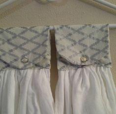 elegant silver kitchen towels by mylittlegirlsshop on Etsy