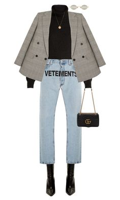"""Untitled #845"" by sofiaskippari ❤ liked on Polyvore featuring Vetements, Nili Lotan, STELLA McCARTNEY and Gucci"