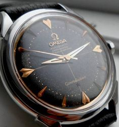 Stunning Omega Constellation Black Dial #Omega #Constellation #Menswear #Watches #Vintage #Arrowhead #Blackdial #Watchporn #Classic - omegaforums.net